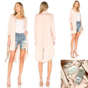 SOIA & KYO NWT Bomber Trench Coat Blush Pink S